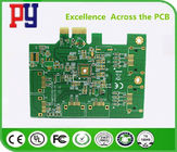 China 2-layer immersion gold PCB board  Green Solder Mask Aluminum 1.2mm   ENIG company