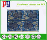 China Blue 8 Layer Quick Turn PCB Prototypes 1.6MM Immersion Gold 0.25mm Hole ENIG Surface factory