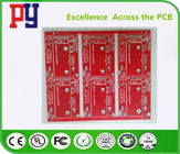 Red Solder Mask Electronic Circuit Board Assembly , Double Sided Pcb Board 2oz