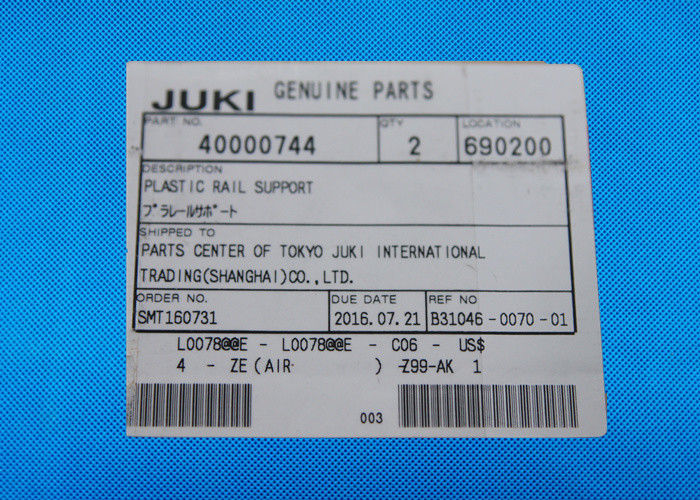 40000744 Plastic Rail Juki Machine Parts Surface Mount Technology Equipment