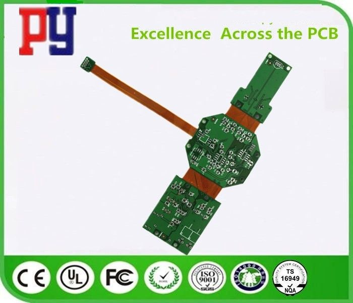 Customized Rigid Flex PCB 4 Layer FPC FR4 Lead Free Tin Plated Circuit Board