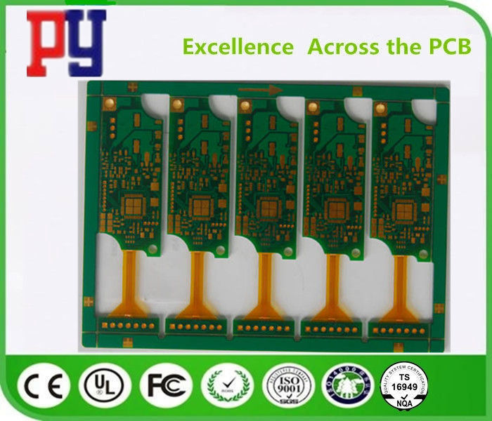 Golden Triangle Rigid Flex PCB 2 Layer 4MIL Hole Size HASL Surface Treatment