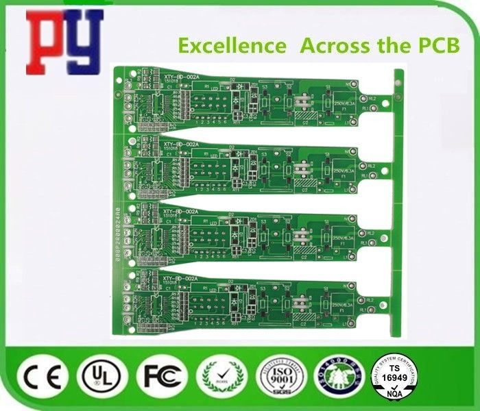 High Tensile Strength Double Sided PCB Board Green Solder Mask Color Long Lifespan